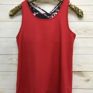 NWT Ideology Red Two Fer